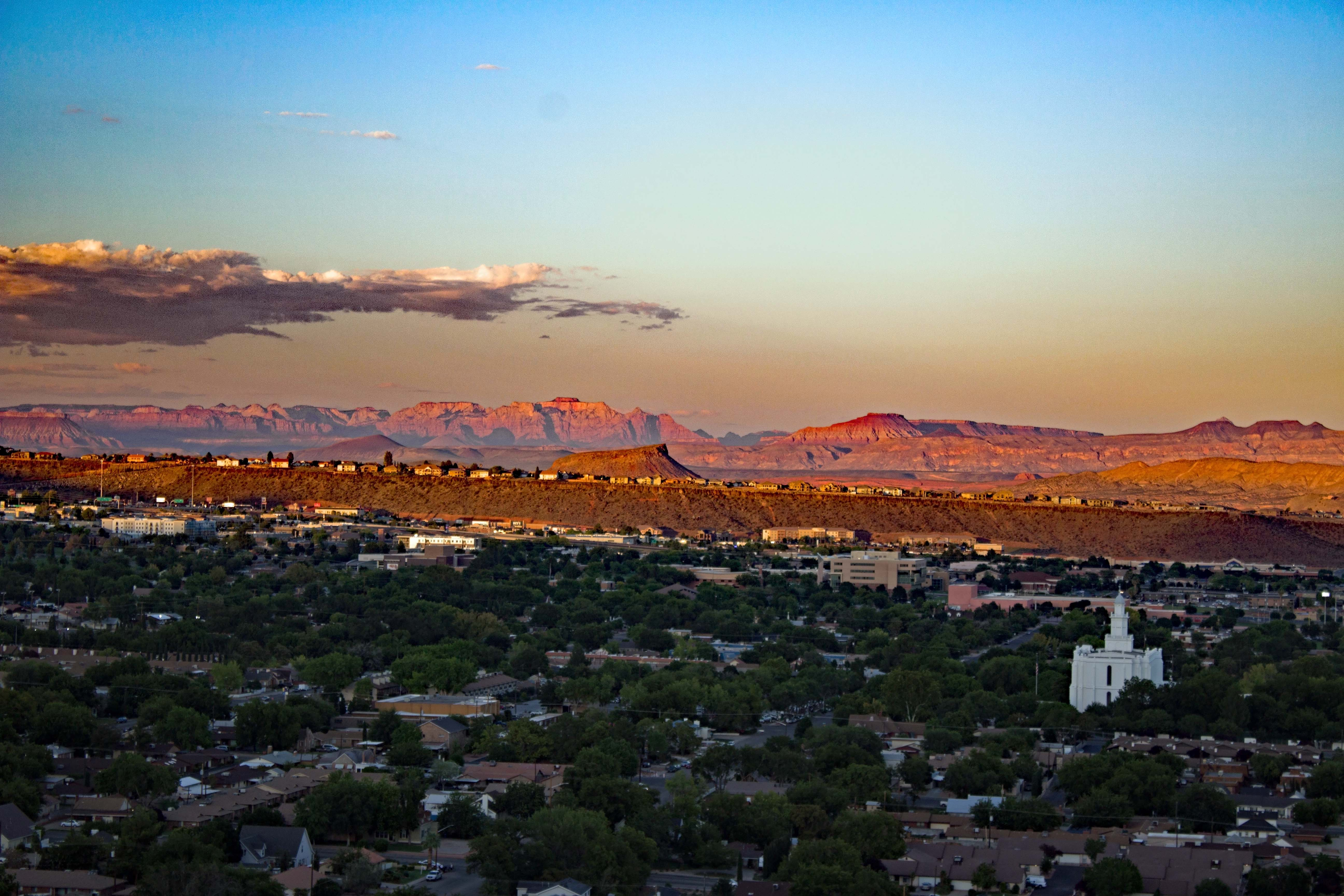 St. George, UT, topped the list of fastest growing metro areas 2018-2020